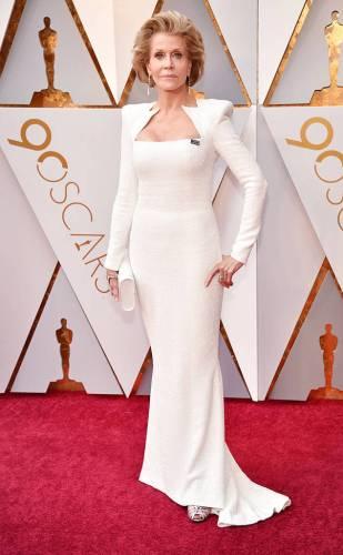 Jane Fonda in custom Balmain