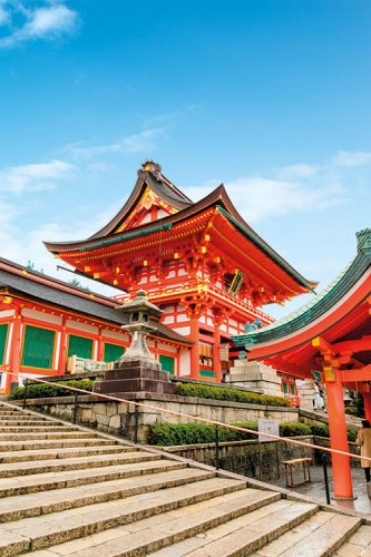 A pagoda within the Fushimi Inari shrine complex in Kyoto