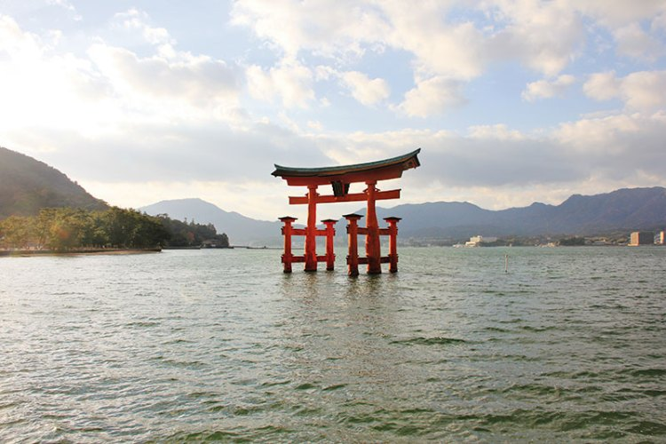 Great Torii, the floating shrine off Miyajima Island