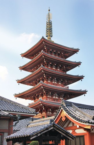 A pagoda from the Sensō-ji temple complex, Tokyo