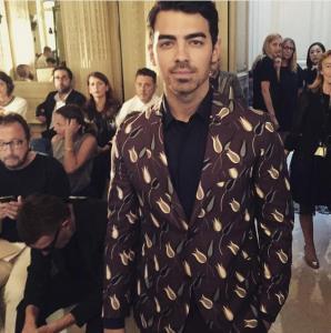 Joe Jonas at Valentino