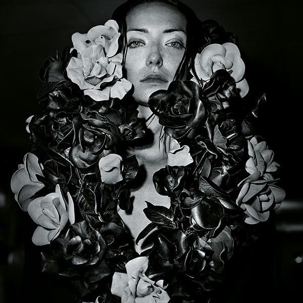 A model from Claessens' debut show as a fashion photographer