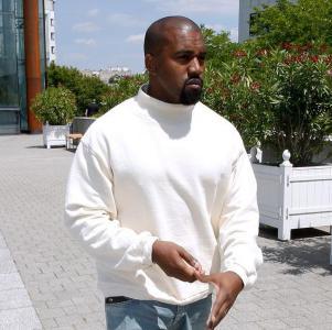 Kanye West at Louis Vuitton