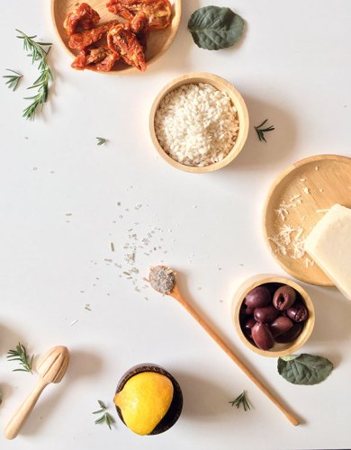 Mediterranean Food Styling (gourmet box)