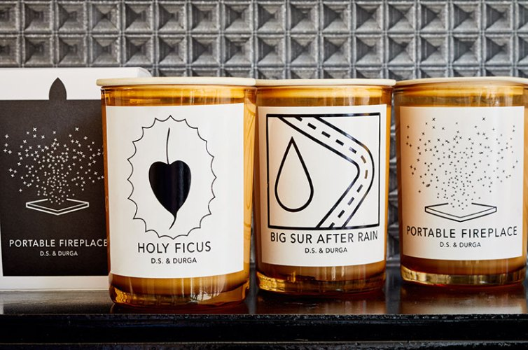 Candles in their beautiful packaging.