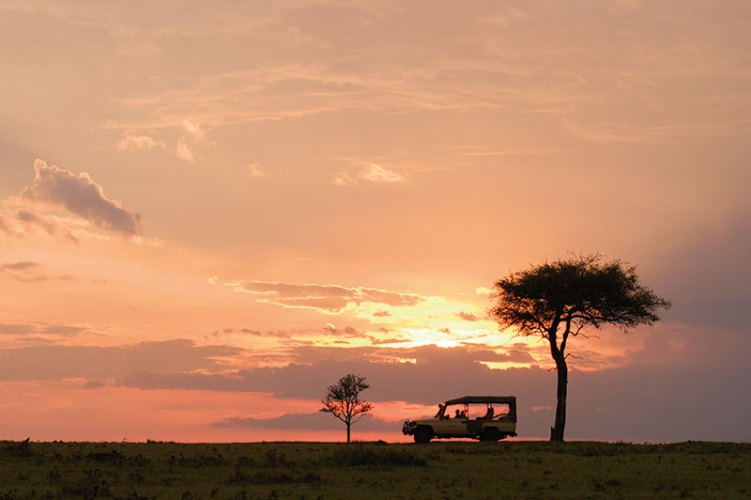 A glorious African sunset