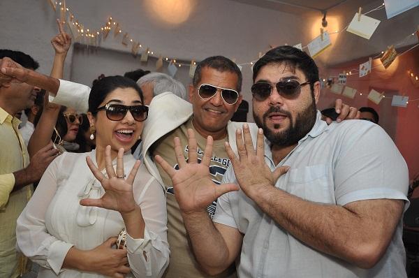 Kiran Amlani, AD Singh, Riyaaz Amlani at Olive's 15th Anniversary Celebrations in Mumbai