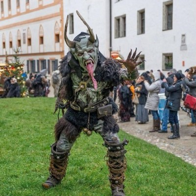 People dressed up as Krampus