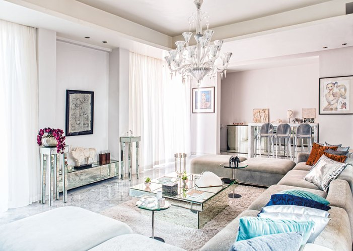 Seolekar's luxurious living room