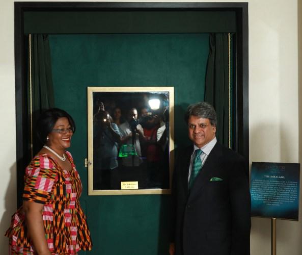 Left to Right: H.E. Mrs. Judith K.K.Kan'gona Kapijimpanga with Mr. Rajkumar Tongya, Founder and Chairman of Diacolor