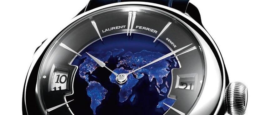 Laurent Ferrier Galet Traveller Globe Night Blue