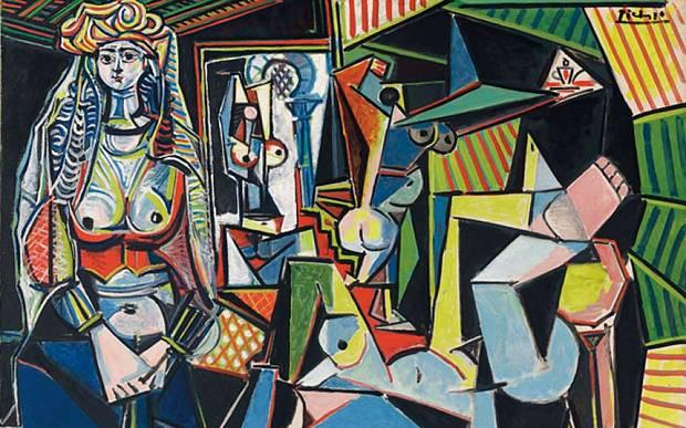 Les Femmes d'Alger by Pablo Picasso Version O art auction painting