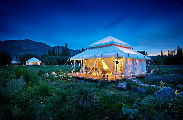 Luxury suite tent at Chamba Camp, Thiksey
