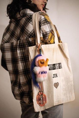 Tote bag, keychain, both from Kpopbazaar