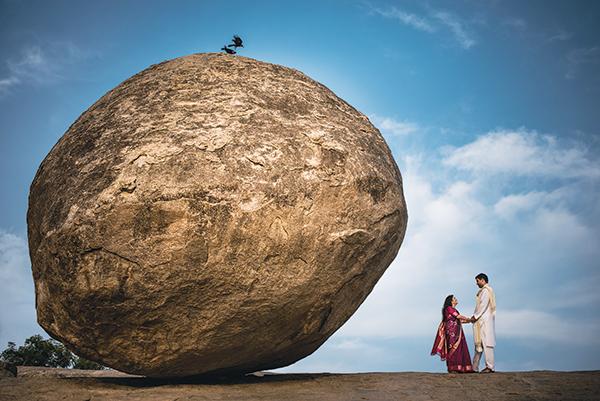Krishna's Butterball, Mahabalipuram, Tamil Nadu