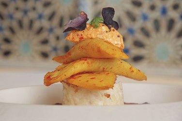 Oven baked spiced pomfret