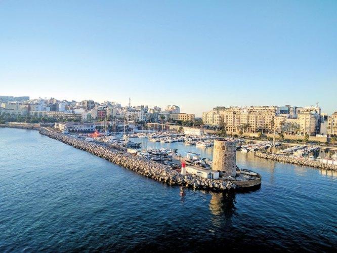 The port of Ceuta