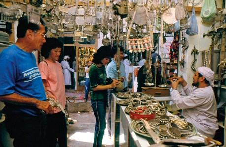 Shopping at a souk