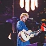 Ed Sheeran performing at the Mahalaxmi Race Course in Mumbai