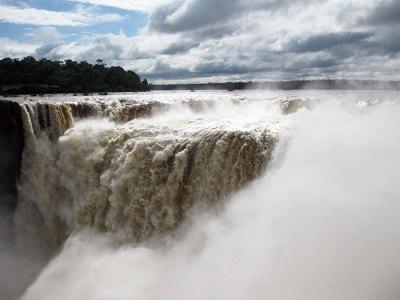The spectacular Iguazu Falls