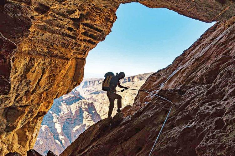 Ferrata cave experience, Alila Jabal Akhdar