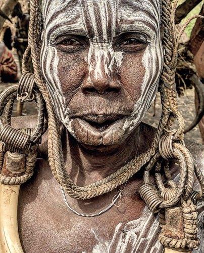 A Mursi Tribe Matriarch