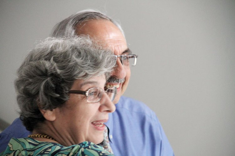 Gulserene Dastur with Nadir Godrej at her film screening in Mumbai