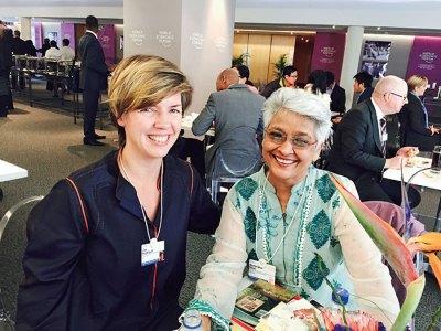 Lisa Heydlauff with Sharanjeet Shan