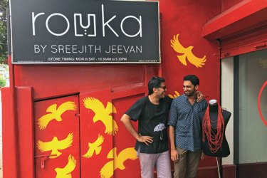 With Sreejith Jeevan at the Rouka store in Kochi