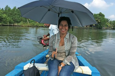 Maneesha Panicker on the Kayal boat