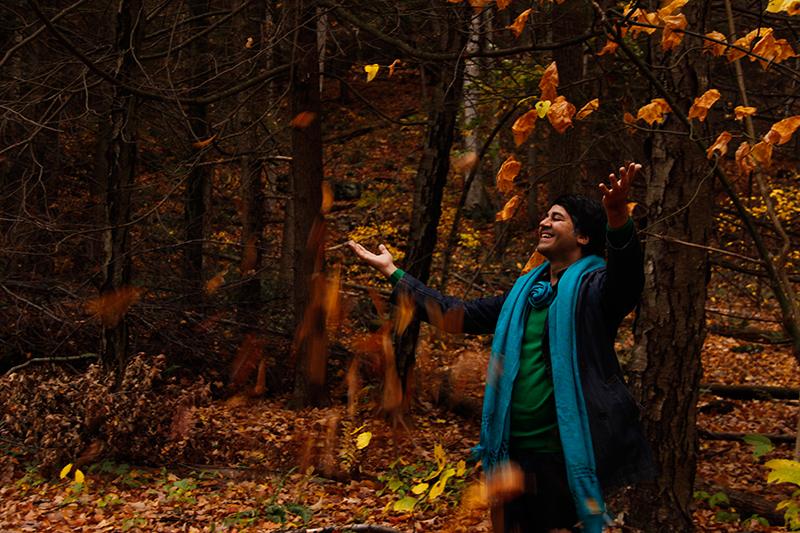 Parmesh Shahani enjoying the fall foliage in the Berkshire mountains, Parmesh's Viewfinder, Parmesh Shahani