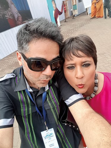 Parmesh with Barkha Dutt at We the Women