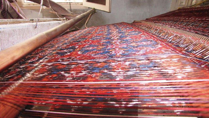 Patola on the loom