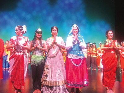 Performers at the Miss India Connecticut pageant