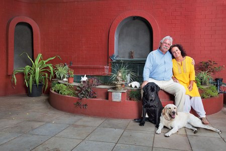 Peter and Daniela Honegg: good food and chatter