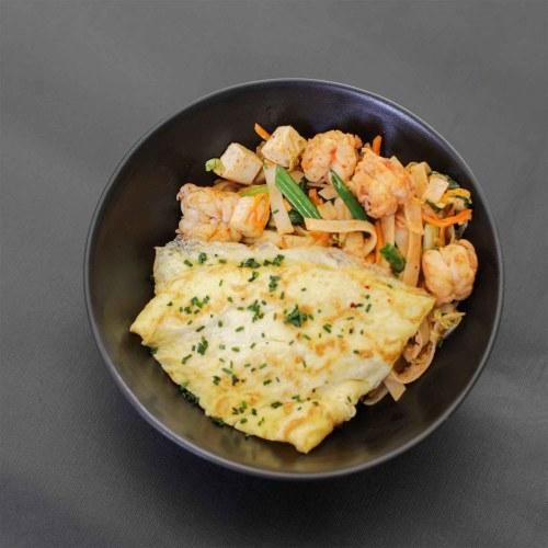 Phad Thai Noodles with Shrimp
