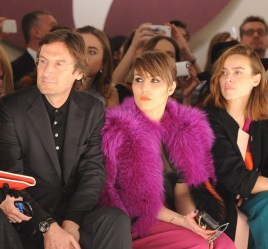 Pietro Beccari, Noomi Rapace, Kasia Smutniak at Fendi