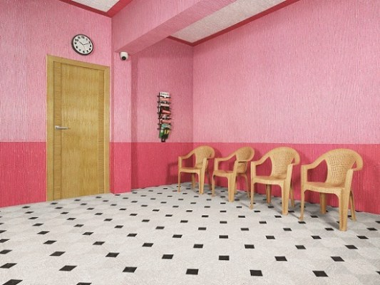 Pink Waiting Area