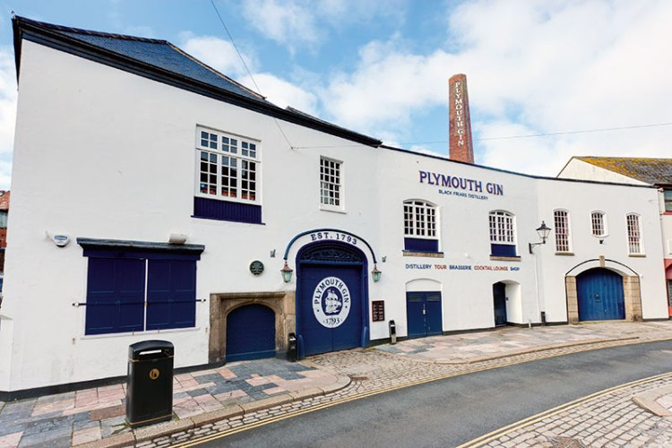 Plymouth Gin Distillery — one of the oldest buildings in the city