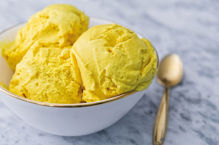 Golden turmeric ice cream