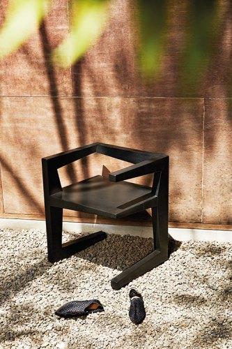 Black woven flats, from Zara, Mumbai. C-Chair by Rooshad Shroff, 2012