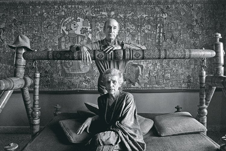 Painter Jehangir Sabavala and his wife Shirin