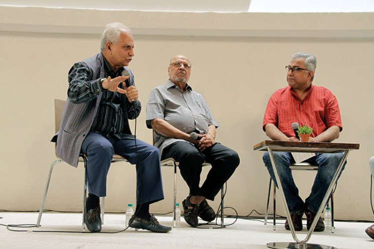 Ramesh Sippy, Shyam Benegal and Aseem Chhabra at the Post-Partition Cinema panel
