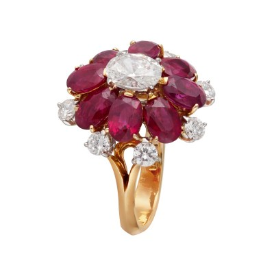 Earrings by Gem Plaza, Jaipur set with Gemfields Mozambican Rubies