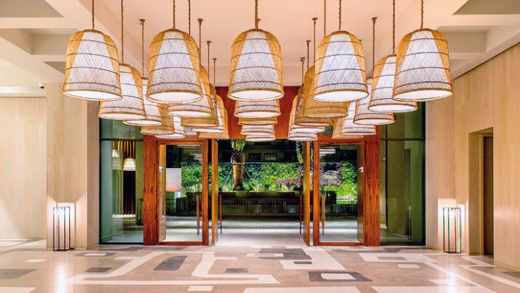 The lobby at the Grand Hyatt Rio de Janeiro