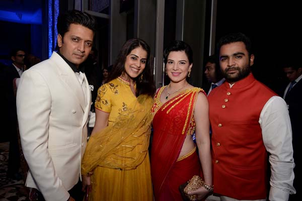 Ritesh and Genelia Deshmukh, Raina and Sachin Joshi