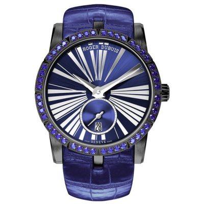 Roger Dubuis Excalibur 36 Automatic Titanium with blue sapphires