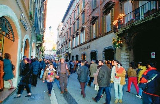 Via Condotti: Rome's most expensive street