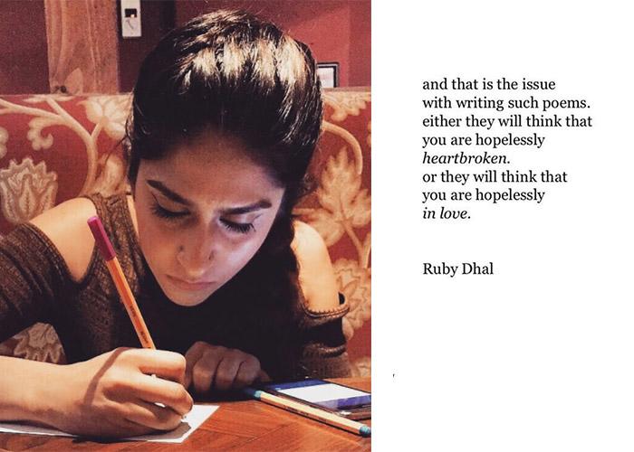 Ruby Dhal, Instagram Poet, Writer, Poet,