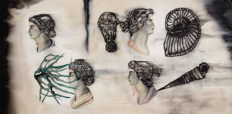 Runway of Wounds - II, watercolour on paper, Anju Dodiya